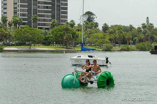 Enticer Water Sports: A Three wheeler on the water