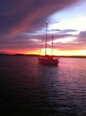 Sailing The Edge Of America - Folly Beach : Sunset On Folly