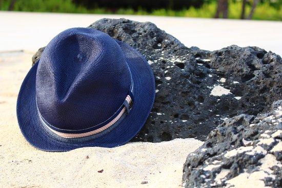 Baltra, Ecuador: Blue Ecua-Andino hat in Galapagos