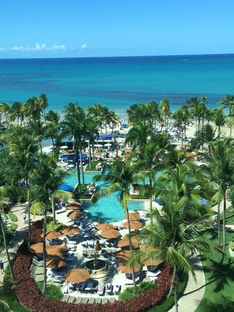The Ritz-Carlton, San Juan: View from our room on the 10th floor