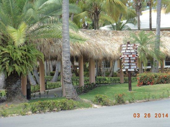 Grand Palladium Bávaro Suites Resort & Spa: Ubicacion en el hotel