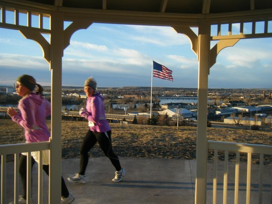 River's Edge Trail: Runner at Warden Park Gazebo
