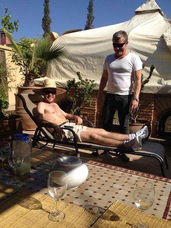 Riad L'Emir : bronzette au soleil
