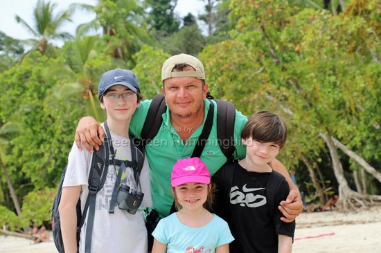 Costa Rica Green Adventures - Day Tours : Eric and my kids, enjoying Costa Rica!