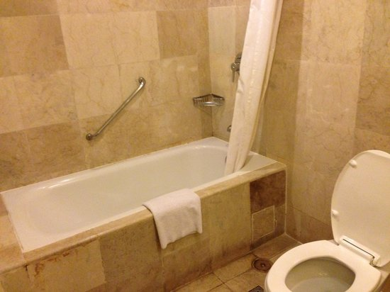 Crown Regency Hotel & Towers: Bath tub and toilet