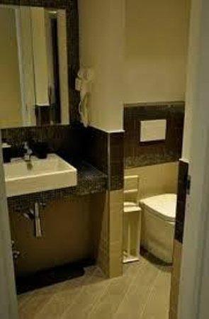 Cesar Vatican Rooms : Bonito y moderno aseo con ducha.