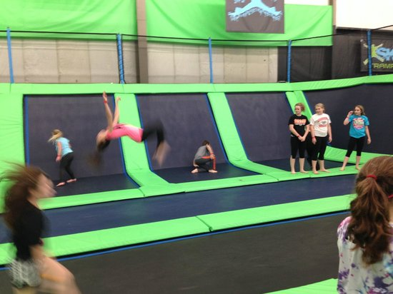 North Canton, OH: Long stretch where kids can do flips.