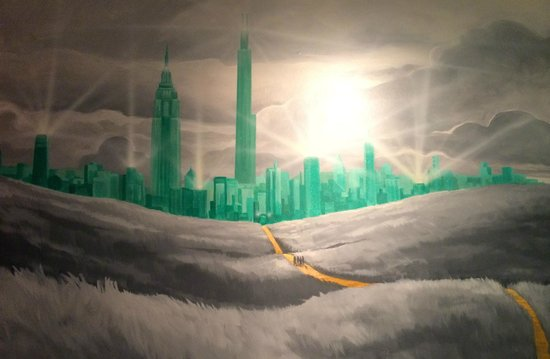 The Roxbury, Contemporary Catskill Lodging: Mural of the Emerald City