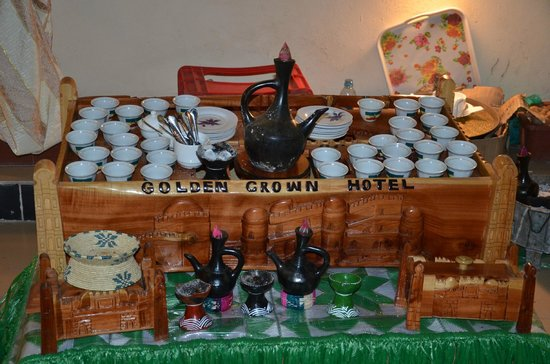 Golden Crown Hotel : Ethiopian coffee set