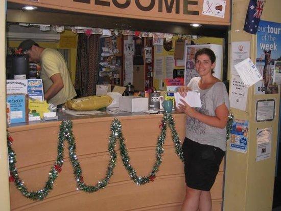 Glebe Point YHA: happy, wonderful staff- front desk