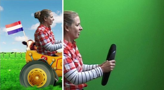 Postcard Experience: Acting in front of green screen + final Film with special effects around you!