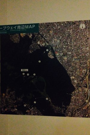 Mt. Moiwa Ropeway / Moriscar: The map of nearby mountains