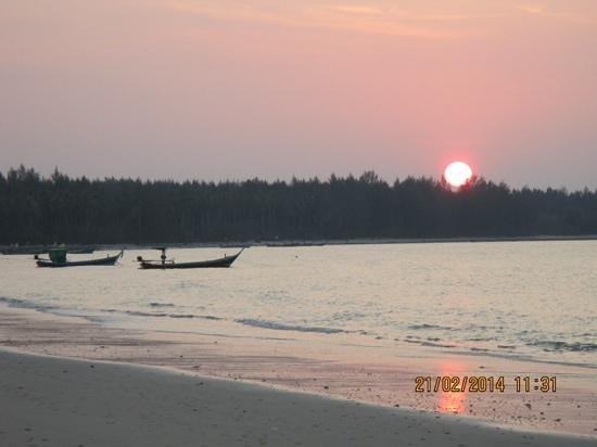 sunset at the sarojin
