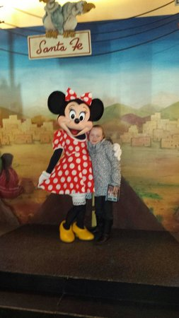 Disney's Hotel Santa Fe: My daughter with mini mouse at the hotel santa fe