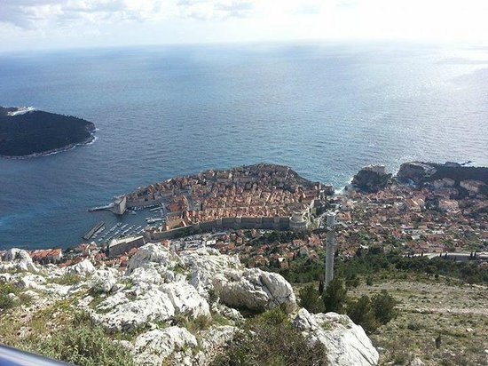 Funiculaire de Dubrovnik : View from one of the viewing platforms