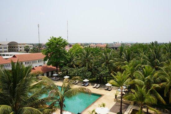 Lotus Blanc Resort: view from 3rd floor room balcony