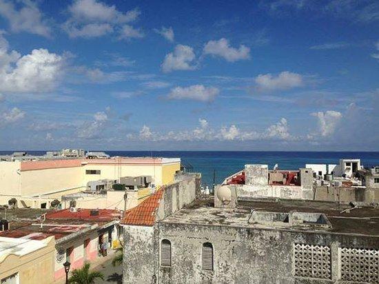 Flamingo Hotel: Veduta dalla terrazzo sul tetto dell'hotel