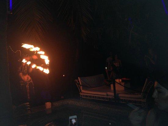 Fire acrobats at Club Cubana