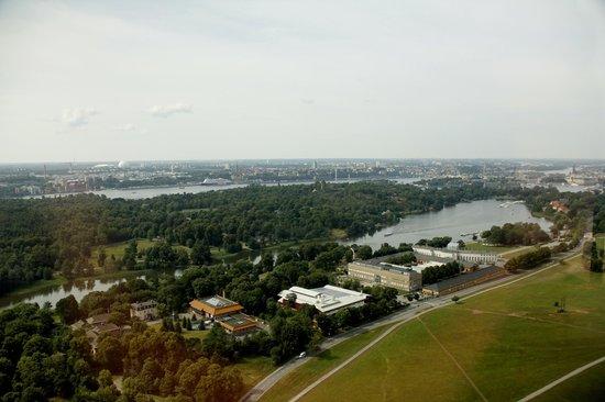 Kaknas Television Tower: View to Djurgården area