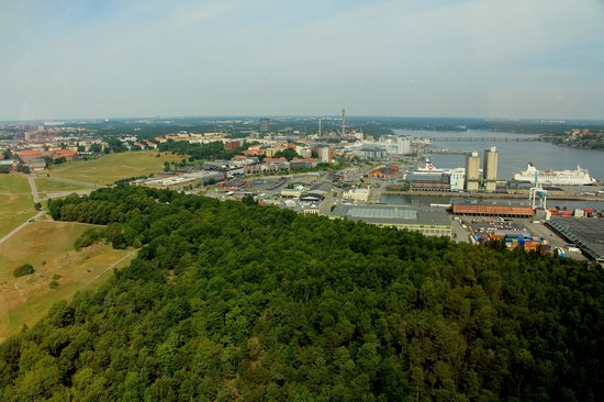 Kaknas Television Tower: View to Tallink harbour