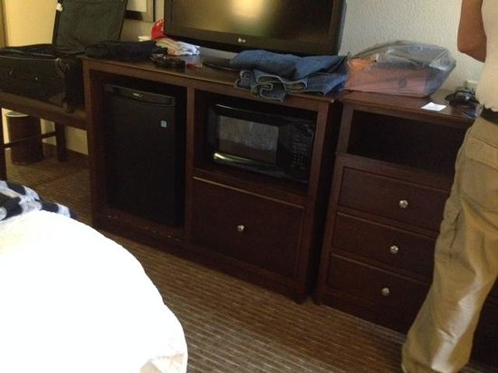 Hampton Inn Huntsville - Arsensal/South Parkway : Microwave and small fridge in room