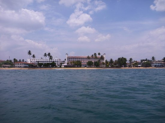 Citrus Hikkaduwa: Hotel-widok z łodzi