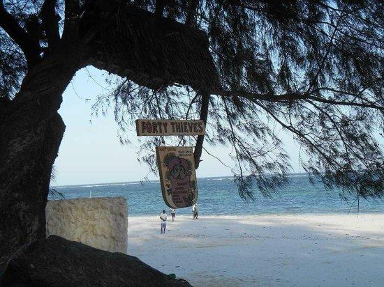Forty Thieves Beach Bar & Bistro: Vue magnifique vers la mer