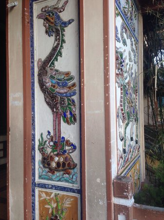 Long Son Pagoda : Роспись стен