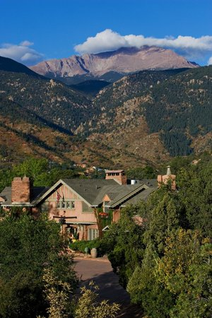 The Historic Inns of Red Crags Estates are located at the base of Pikes Peak