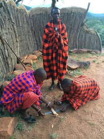 Maji Moto Eco Camp: Traditional fire-making