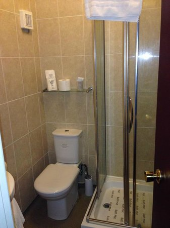 The White House Hotel and Restaurant: Shower room, room 15