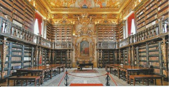 Resultado de imagem para biblioteca joanina da universidade coimbra