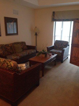 Caribe Cove Resort Orlando: Living room (apt 204, building 3)