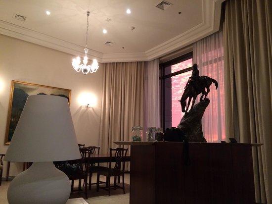 Grand Hyatt Santiago: Suite diplomatique coucher de soleil