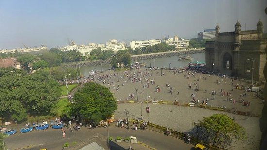 The Taj Mahal Palace : View from our Room - The Gateway of India & the sea!