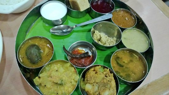Saravana Bhavan: South Indian thali