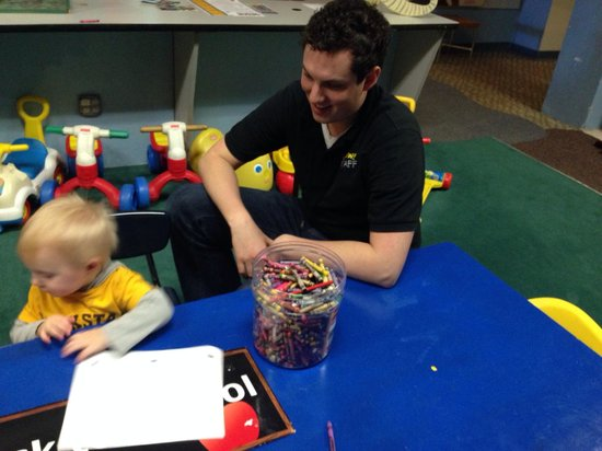 Upper Peninsula Children's Museum : This guy is always playing with kids he ROCKS!