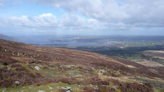 Parc national de Killarney : view over killarney from the top!