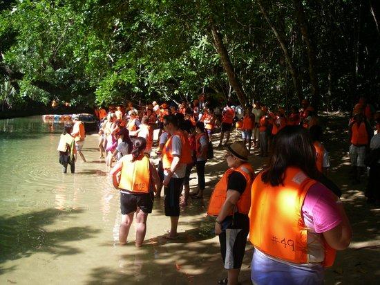 Puerto Princesa Underground River : ожидание отправления