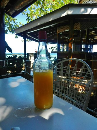 Rondel Village: OJ bought on the beach