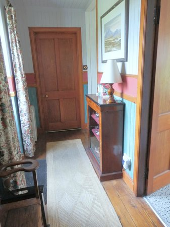 Rowan Tree Cottage : View from your room towards the kitchen door.  Your area is private.