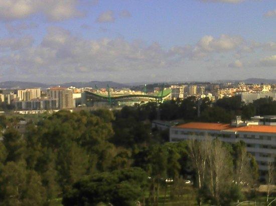 Lisbon Marriott Hotel : View across to the Football Stadium