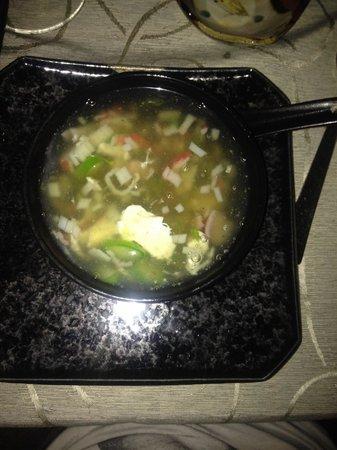 Izumi: Zuppa granchio e asparagi