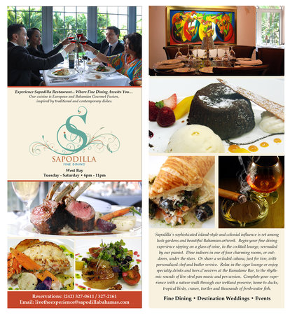Trend Setters in The Bahamas Sapodilla Fine Dining