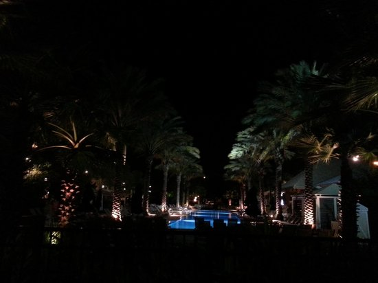 Gaylord Palms Resort & Convention Center : Pool area at night