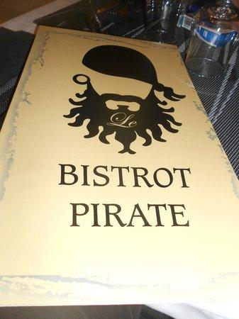 Le Bistrot Pirate : menu