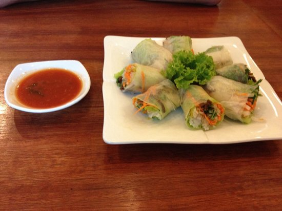 The Vegetarian: Fresh spring rolls