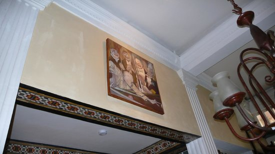 Rivera del Rio : painting above dining room, cortez suite