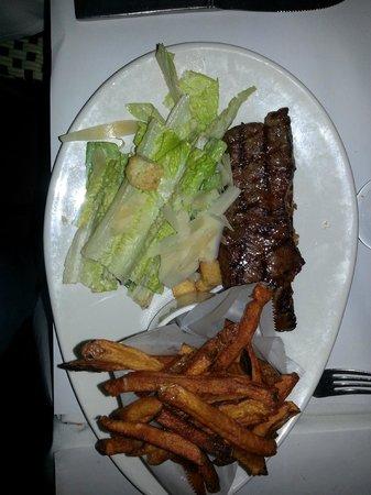 Lexington Square Cafe : Steak Frites served with a mini Caesar