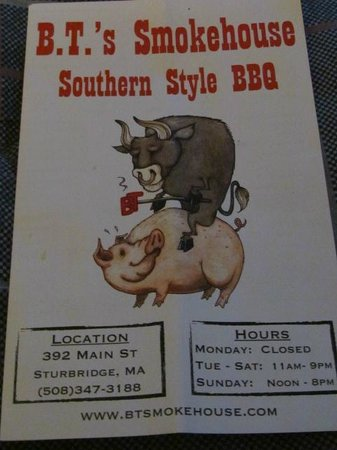 B.T.'s Smokehouse: ~Menu~